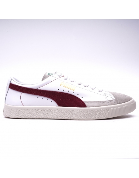 Puma Basket 90680 White Bordeaux