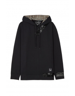 Raf Simons x Fred Perry Tape Detail Hooded Sweat black