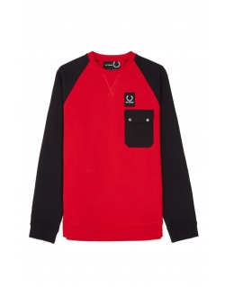 Raf Simons x Fred Perry Colourblock Sweat Goji
