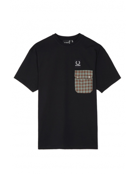 Raf Simons x Fred Perry Pocket Detail T-Shirt Black