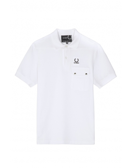 Raf Simons x Fred Perry Pocket detail Pique shirt White
