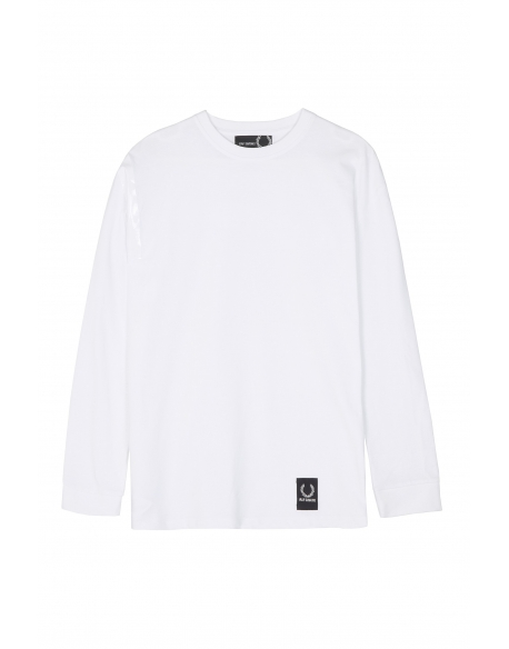 Raf Simons x Fred Perry Tape Detail LS T-Shirt White