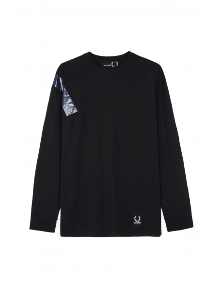 Raf Simons x Fred Perry Tape Detail LS T-Shirt Black