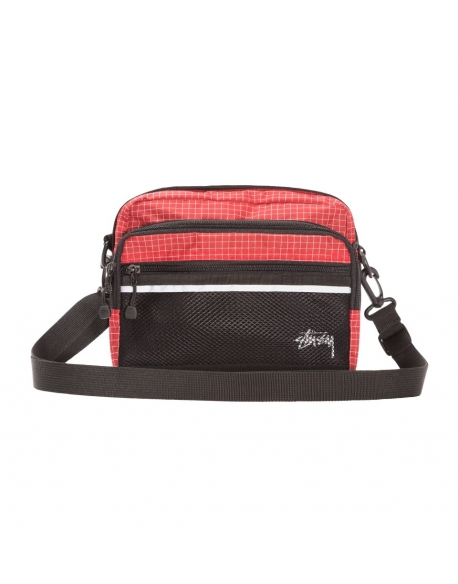Stussy RIPSTOP NYLON SHOULDER BAG Red
