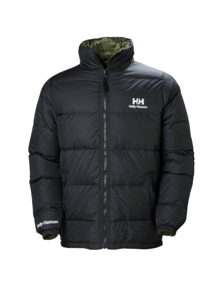 HELLY HANSEN REVERSIBLE DOWN JACKET 990 BLACK