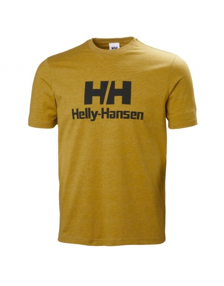 HELLY HANSEN LOGO T-SHIRT 343 GOLDEN