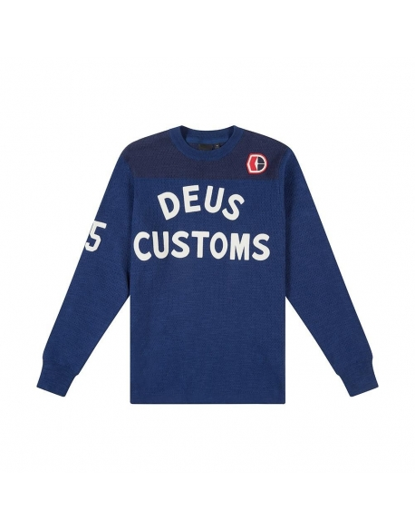 Deus Moto X Knit Estate Blue