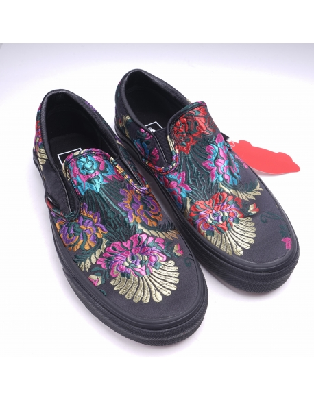 Vans Slip On Festival Satin Black