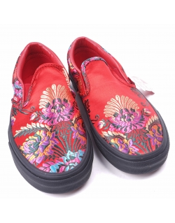 Vans Slip On Festival Satin Red