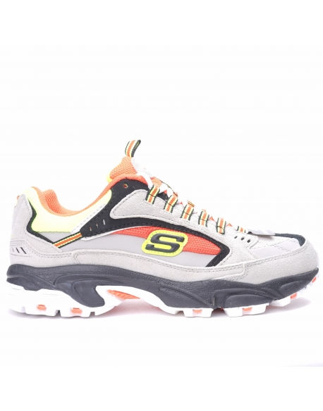 Skechers Stamina Grey Orange