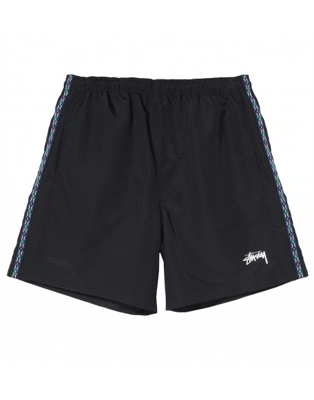STUSSY TAPING NYLON SHORT BLACK