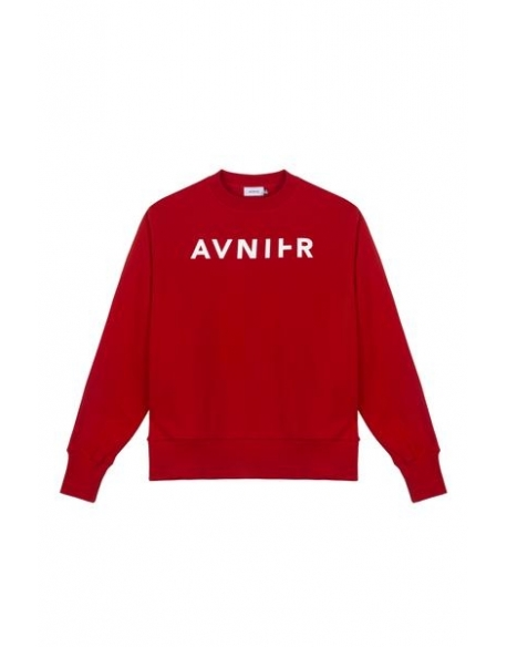 AVNIER Basic red crewneck