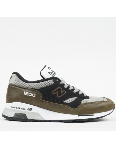 NEW BALANCE M1500 D LEATHER TGG GREEN BLACK