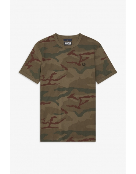 Fred Perry X ARKTIS Camouflage T-Shirt Iris Tundra Camo