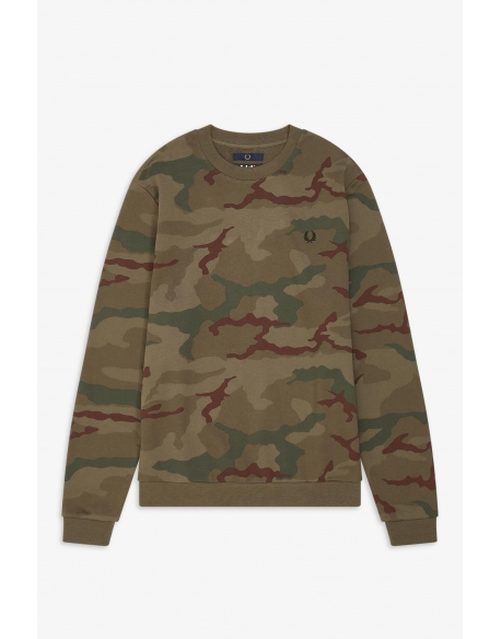 Fred Perry X ARKTIS Camouflage Sweat-Shirt IRIS Tundra Camo
