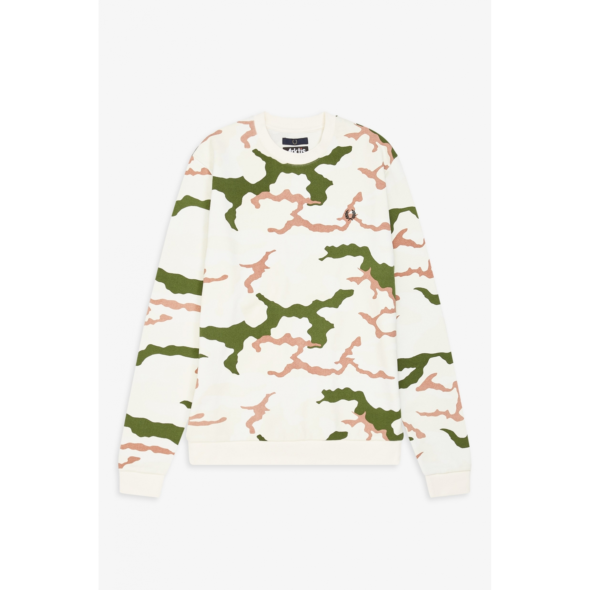 1e4d85a7c Fred Perry X ARKTIS Camouflage Sweat-Shirt Tundra Camo - Slash Store