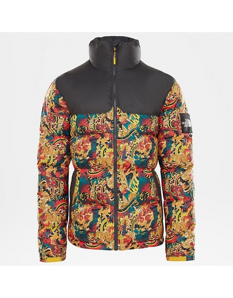 THE NORTH FACE M 1992 NUPTSE JACKET LEOPARD YELLOW GENESIS PRINT