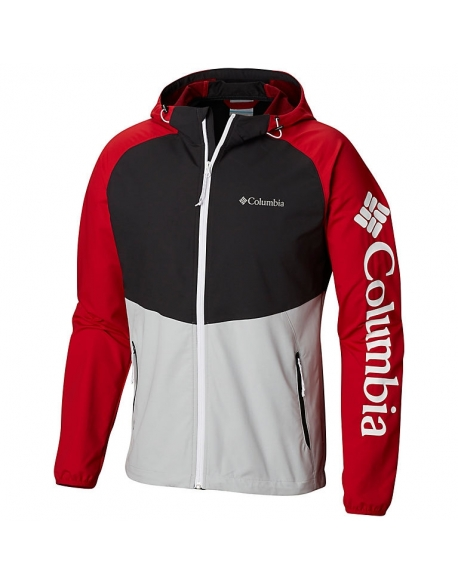 COLUMBIA PANTHER CREEK JACKET GRIS CLAIR NOIR ROUGE MONTAGNE