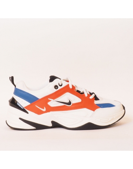 NIKE M2K TEKNO SUMMIT WHITE BLACK TEAM ORANGE