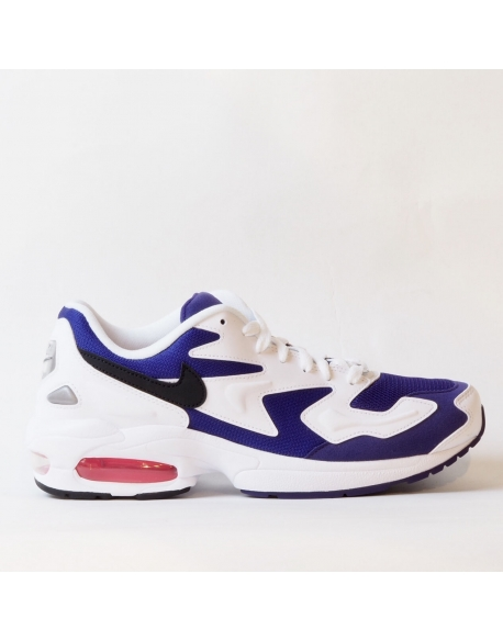 NIKE AIR MAX2 LIGHT WHITE/BLACK-COURT PURPLE