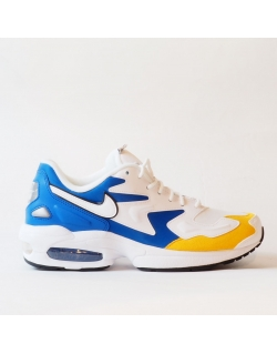 NIKE AIR MAX2 LIGHT PREMIUM WHITE UNIVERSITY GOLD GAME ROYAL