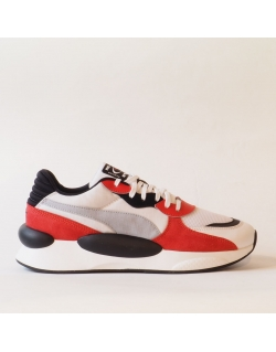 PUMA RS-98 WHITE HIGH RISK RED
