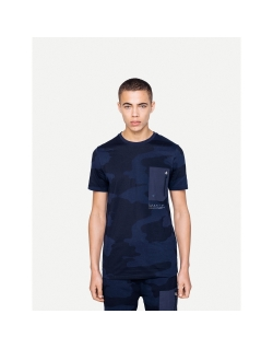 DISCONNECTED GLOSSY TEE BLUE