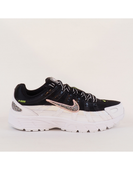 NIKE P-6000 SE BLACK/MULTI-COLOR-WHITE-CORAL STARDUST