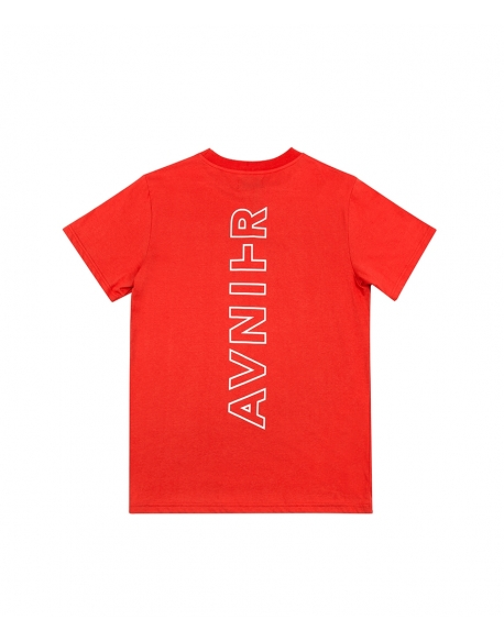 AVNIER VERTICAL BACK RED TEE SHIRT
