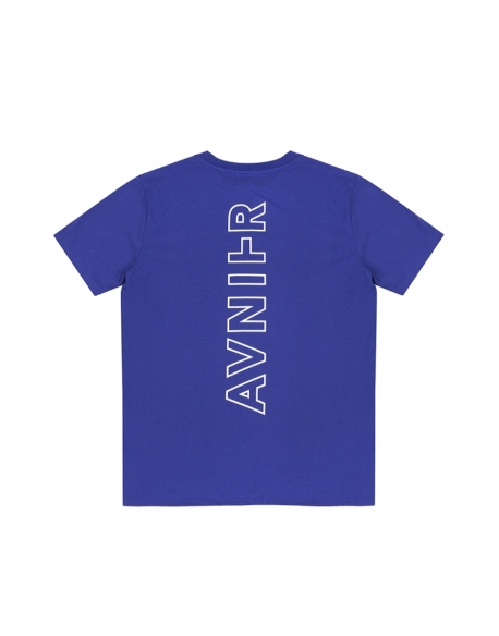 AVNIER VERTICAL BACK BLUE TEE SHIRT