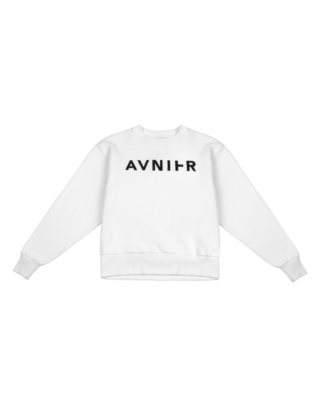 AVNIER Basic white crewneck