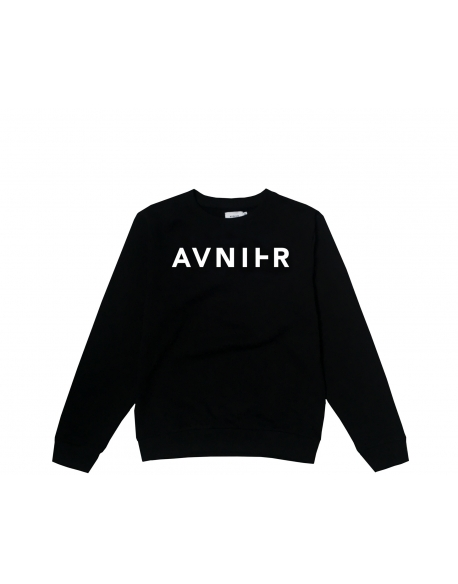 AVNIER Basic black crewneck