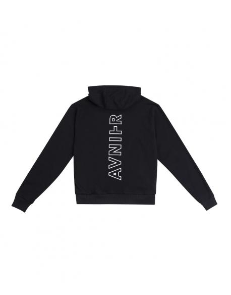 AVNIER Vertical back black hoodie