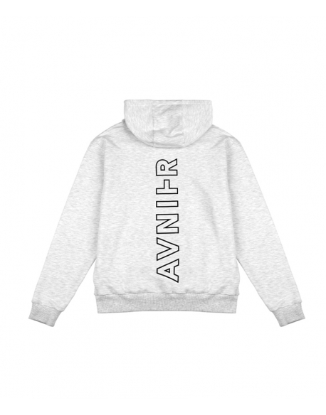 Avnier Vertical back heather grey hoodie