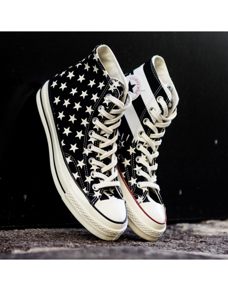 CONVERSE CHUCK 70 ARCHIVE RESTRUCTURED HIGH TOP BLACK WHITE EGRET