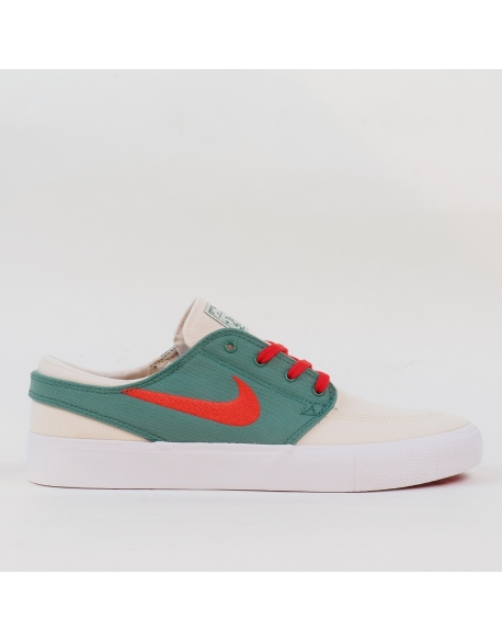 NIKE SB ZOOM STEFAN JANOSKI CANVAS RM PALE IVORY/ATOM RED-EVERGREEN-WHITE