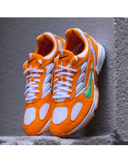 NIKE AIR GHOST RACER ORANGE PEEL/APHID GREEN-PURE PLATINUM