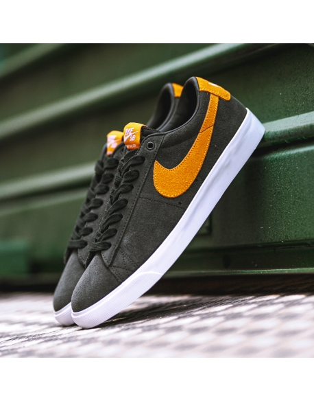 NIKE SB BLAZER LOW GT SEQUOIA/KUMQUAT-WHITE-GUM LIGHT BROWN