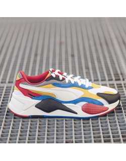 PUMA RS-X3 PUZZLE.PUMA WHITE SPECTRA/YELLOW/BLACK