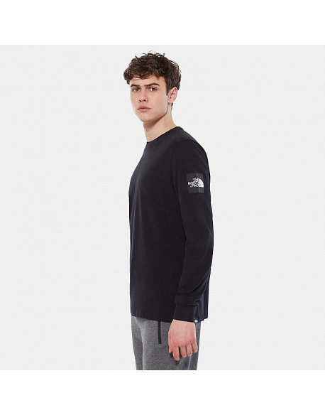 THE NORTH FACE M L/S FINE 2 TEE TNF BLACK