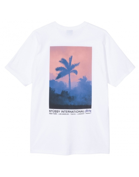 STUSSY FIRE PALM WHITE