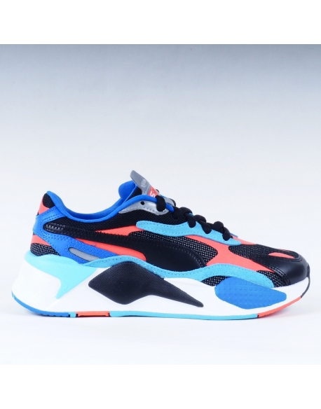PUMA RS-X3 PUZZLE PRM.BLACK/HOT CORAL