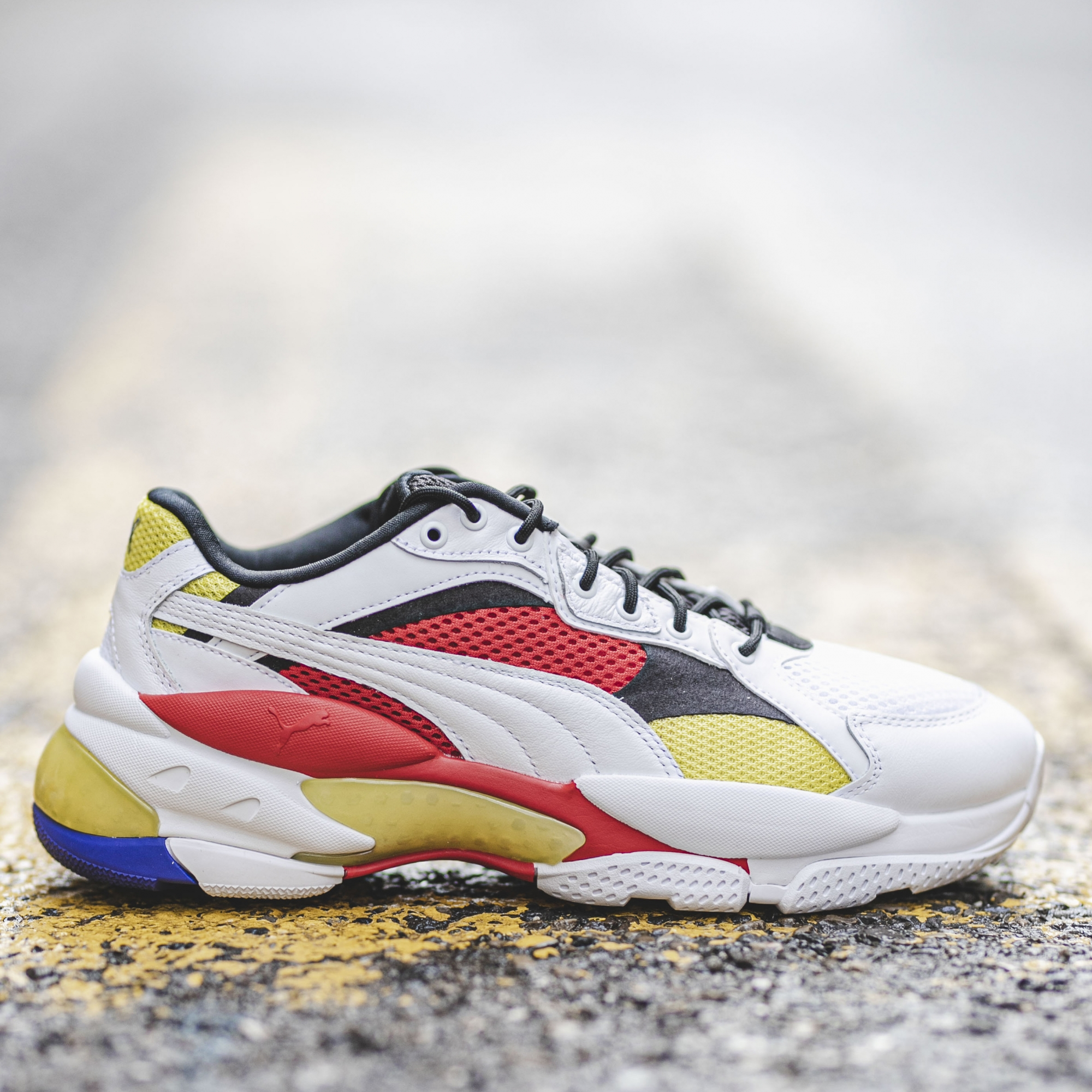 PUMA LQD CELL EPSILON.PUMA WHITE/HIGHT RISK RED - Slash Store