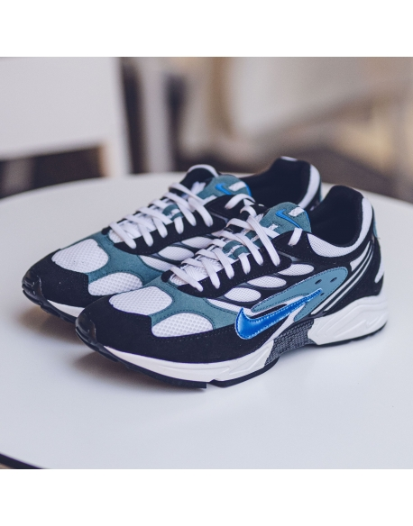 NIKE AIR GHOST RACER BLACK/ BLUE-MINERAL TEAL-BLACK