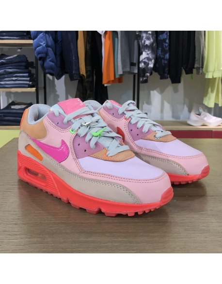 NIKE WMNS AIR MAX 90 BRIGHT CRIMSON/PURE PLATINUM