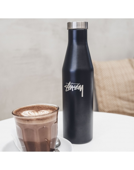 STUSSY MIZU MATTE WATER BOTTLE BLACK