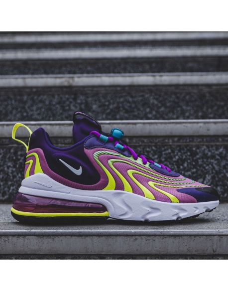 NIKE AIR MAX 270 REACT ENG EGGPLANT/WHITE-MAGIC FLAMINGO