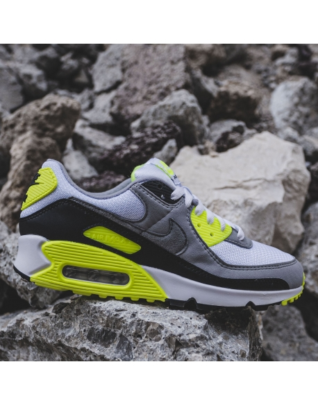 NIKE AIR MAX 90 WHITE/PARTICLE GREY-VOLT-BLACK