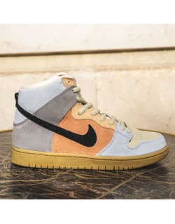 "NIKE SB DUNK HIGH PRO ""SPECTRUM"" PARTICLE GREY/BLACK-TERRA BLUSH"
