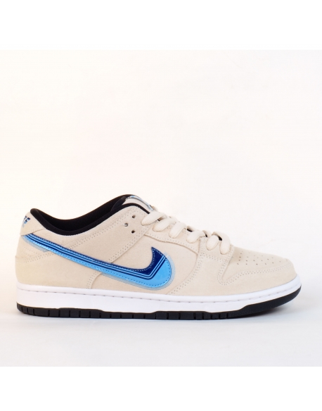 "NIKE SB DUNK LOW PRO ""TRUCK IT"" LIGHT CREAM/DEEP ROYAL BLUE"